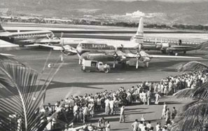 a historic photo of the airport
