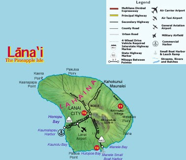 Lanai State Roads and Highways