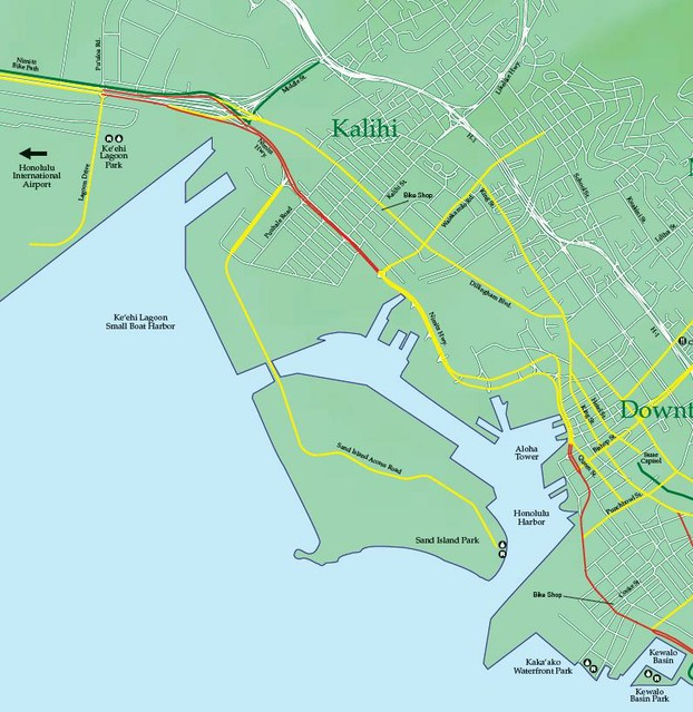 Highways Bike Map Oahu