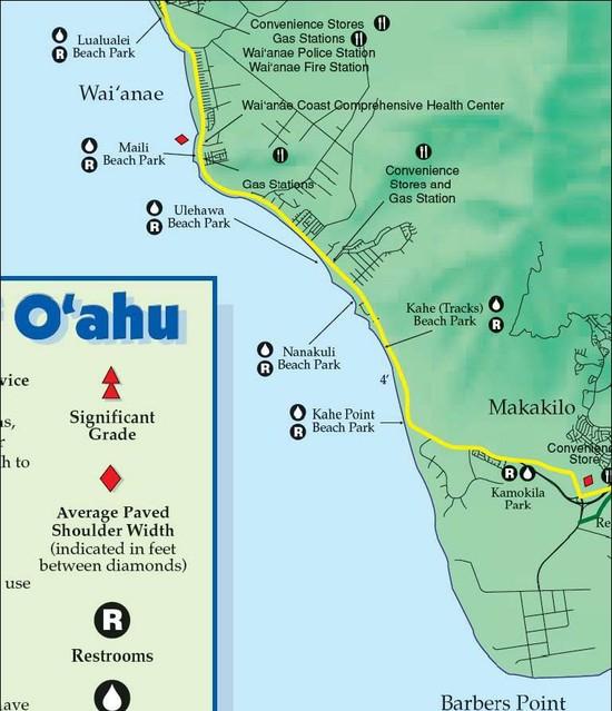 Barber Kailua : Highways Bike Map Oahu