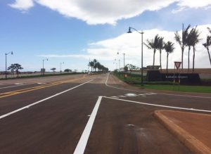 Photo of the New Kahului Airport Access Road that connects Hana Highway to Lanui Loop.