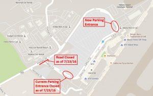 Map 2 – New parking garage entrance.