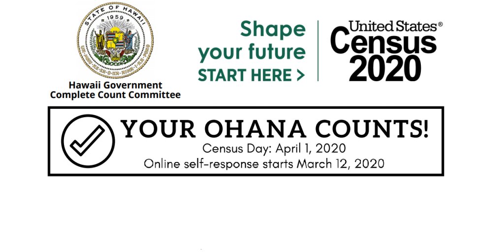 Census 2020 - Your Ohana Counts Large Image