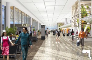 Artist's rendering of the new proposed terminal improvements.
