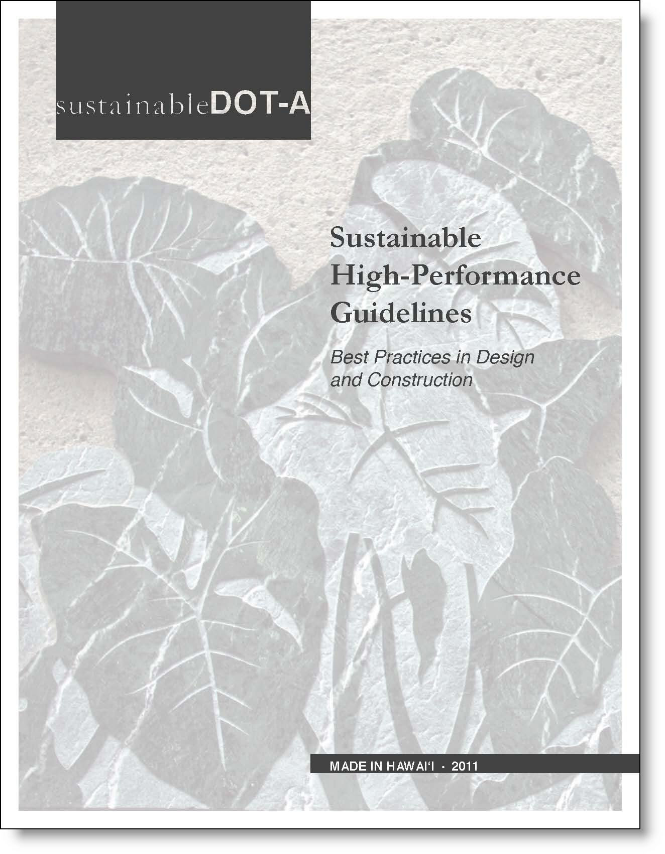 Sustainable High Performance Guidelines (SHPG) Cover
