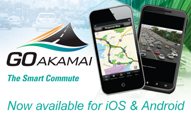 GO Akamai, photo of map app on a mobile phone