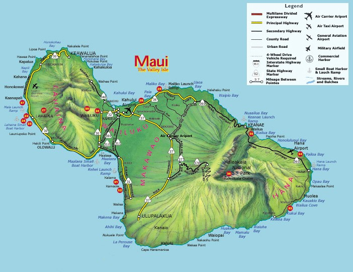 Maui State Roads and Highways