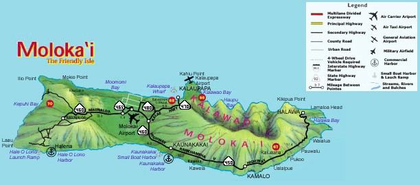 Molokai State Roads and Highways