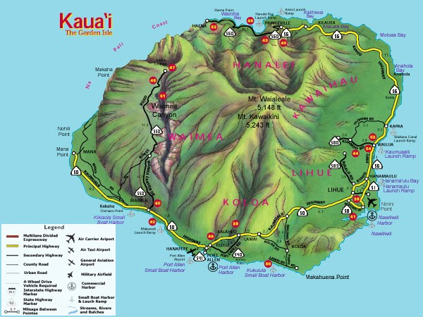Roads and Highways on Kauai Under State Jurisdiction