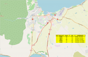Map of Maui traffic stations