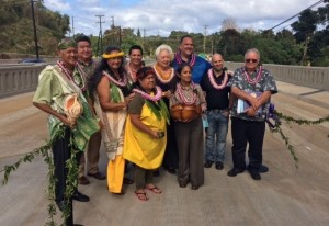 Federal, State and County Dignitaries gather to dedicate the new Lihue Mill Bridge