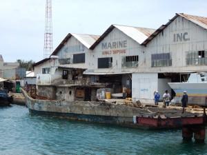 Arriving at the Marine Shipyard