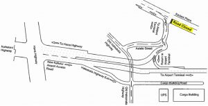 Map 1 - New Kahului Airport Access Road.