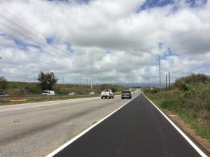 The new H-1 Freeway eastbound shoulder provides commuters with an extra lane between the Kualakai Parkway and the Kunia/Waipahu/Ewa off-ramp (Exit5).