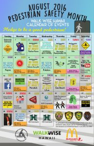 Ped Safety Month Calendar