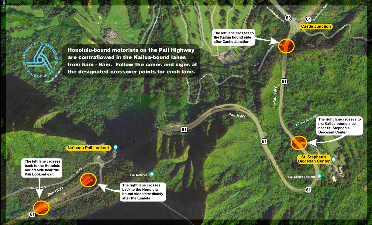 Department of Transportation | Pali Highway to open during morning