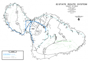 Maui District Map with State Routes